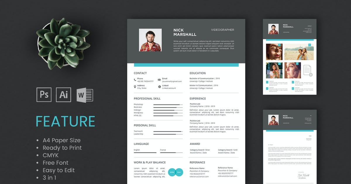 Download Professional CV And Resume Template Nick by WPBootstrap