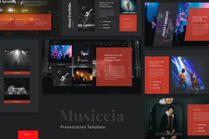 Thumbnail for Musiccia - Music Performance Powerpoint Template