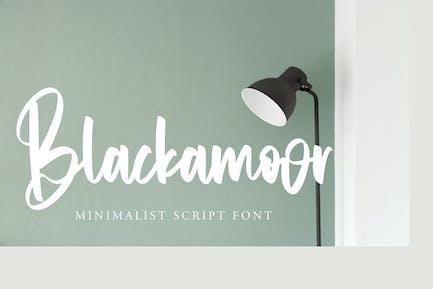 Blackamoor - Fuente de secuencia de comandos minimalista