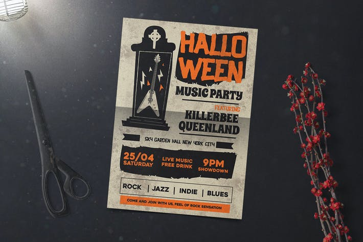 Thumbnail for Halloween Music Flyer
