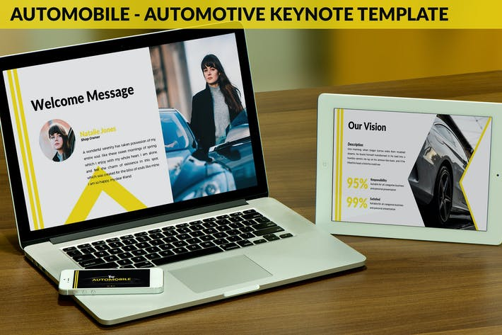 Thumbnail for Automobile - Automotive Keynote Template