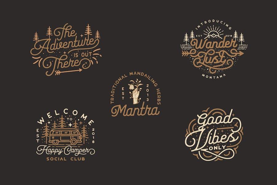Adventure, Outdoor, Nature, badges logo kit