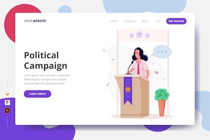 Political Campaign - Landing Page