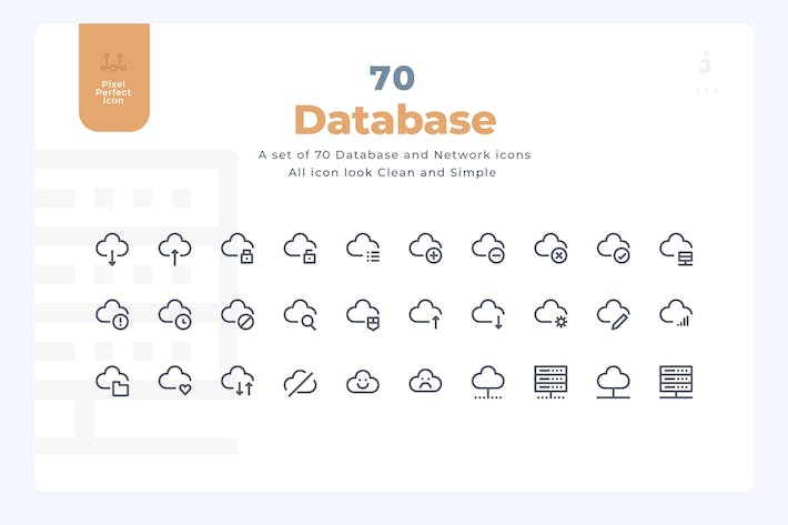 Thumbnail for 70 Database and Network Icons - Material Icon