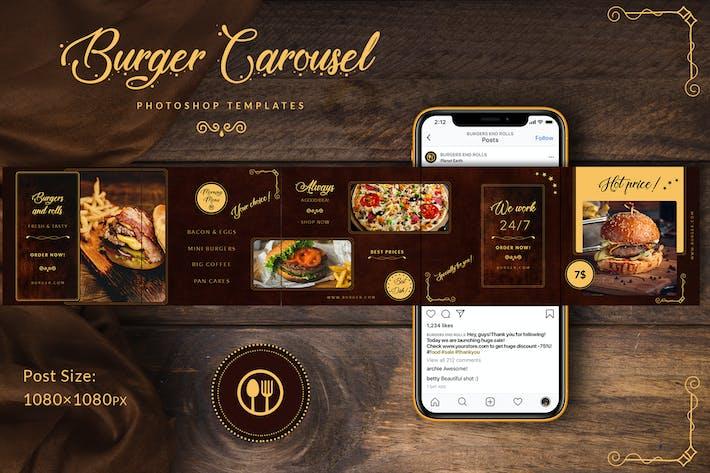 Thumbnail for Burger - Seamless Instagram Carousel