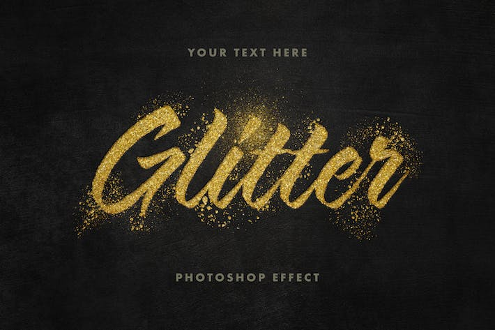 Thumbnail for Golden Glitter Text Effect