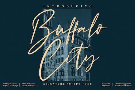 Buffalo City Signature Script Font LS