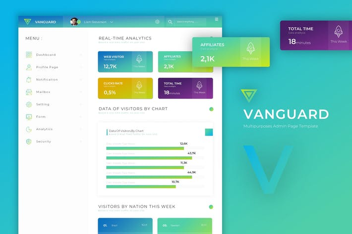 Thumbnail for Vanguard Dashboard | Admin Template