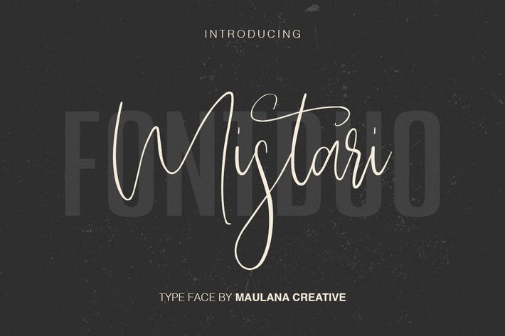 Thumbnail for Mistari Typeface - Script And Sans
