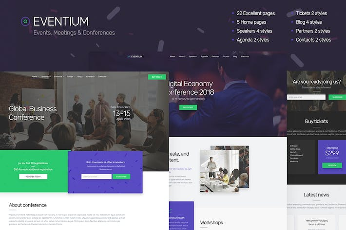 Thumbnail for Eventium - Events, Meetings & Conferences
