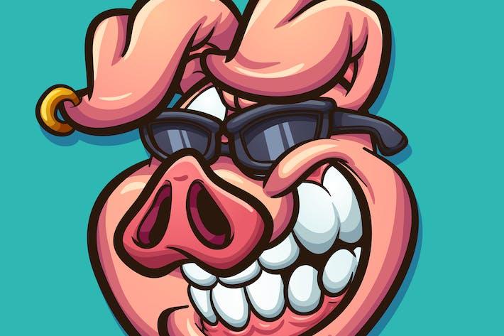 Thumbnail for Cartoon Schwein