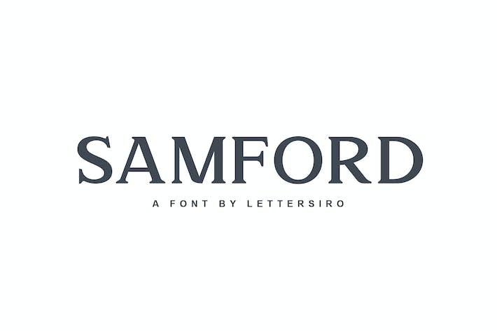 Thumbnail for Samford font