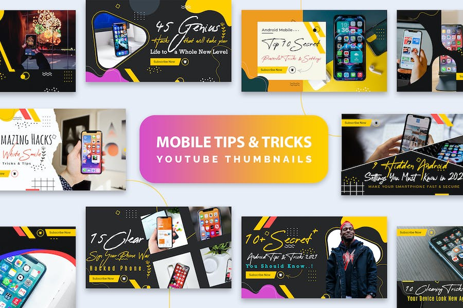 Mobile Tips and Tricks YouTube Thumbnails