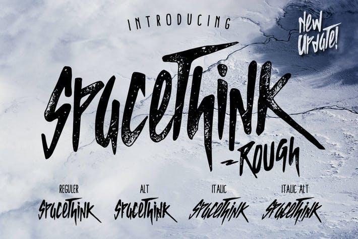 Thumbnail for Spacethink Typeface