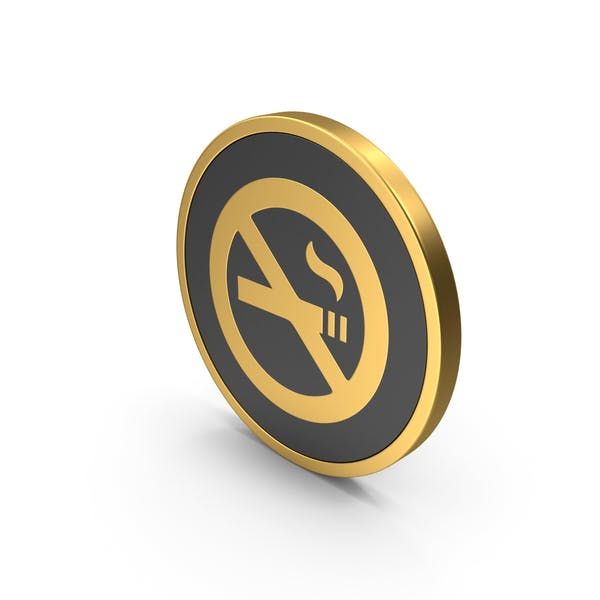 Gold Icon No Smoking