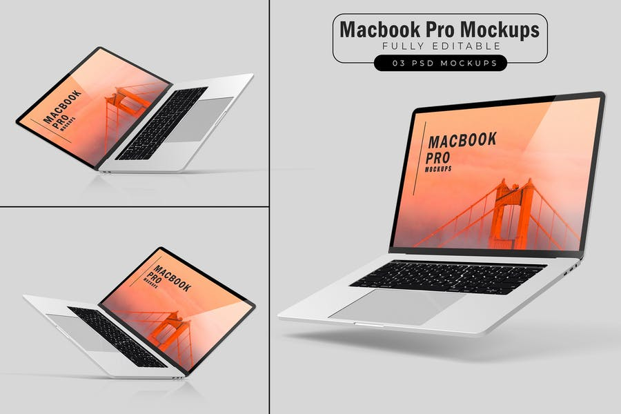 Macbook Pro Mockups V.3
