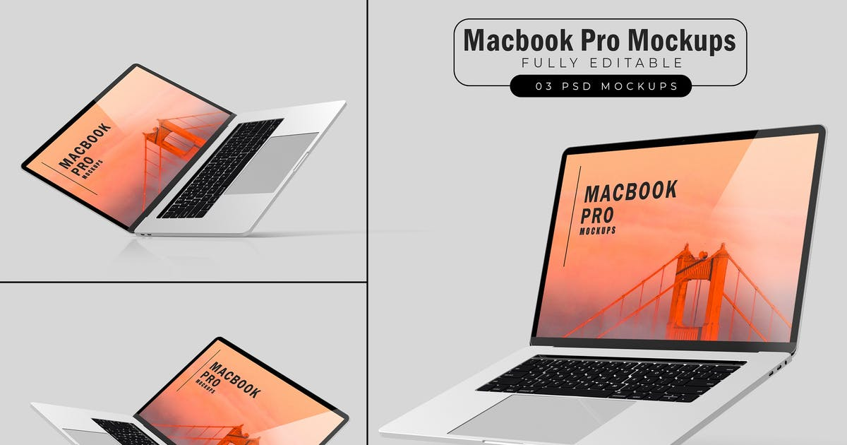 Download Macbook Pro Mockups V.3 by GraphicMonday
