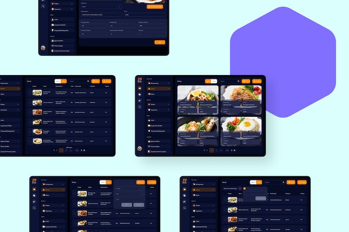 Thumbnail for 29Foodie Food Admin Dishes Ui - FP