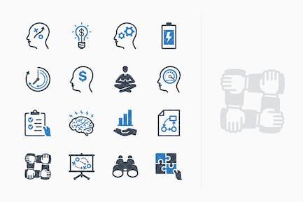 Kit de Íconos de mejora de la productividad 2 - Serie azul