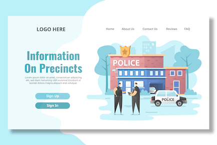 Police Station - Landing Page
