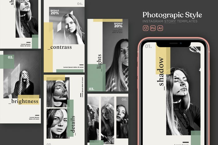 Thumbnail for Photography & Fashion Instagram Story Template