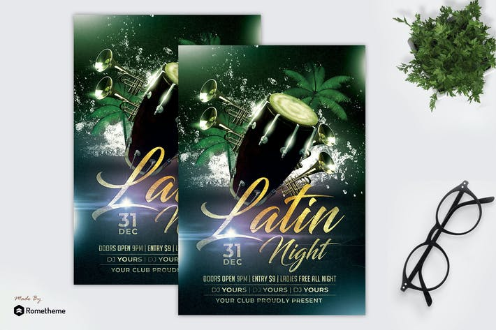 Cover Image For Latin Night - Flyer MR