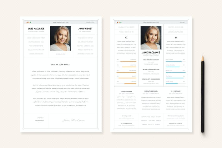 Thumbnail for UX UI - CV Resume