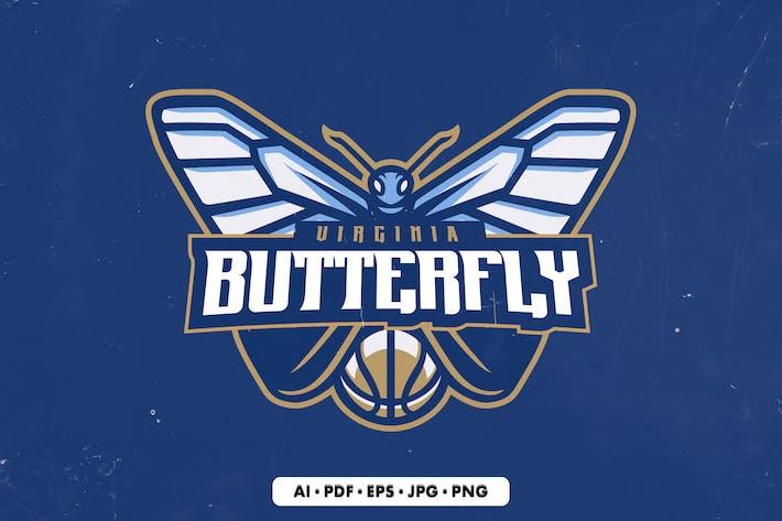 Butterfly Mascot Logo Template