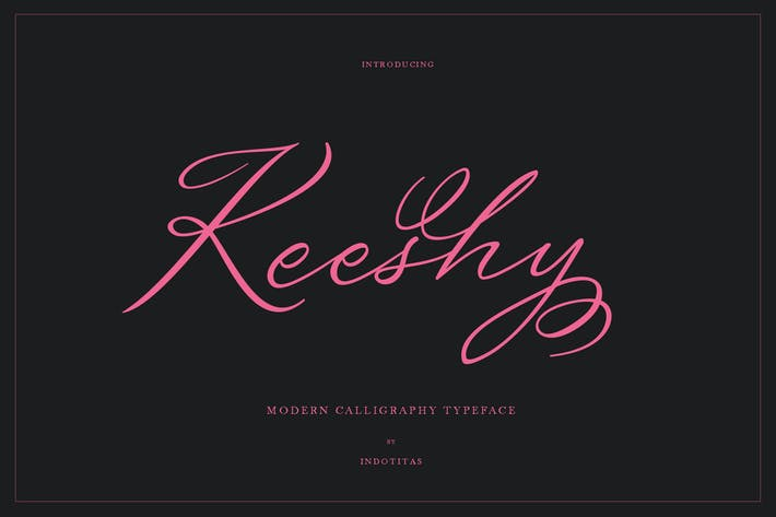 Thumbnail for Keeshy Modern Calligrapy Typeface