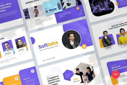 IT Solutions & Services Powerpoint Template