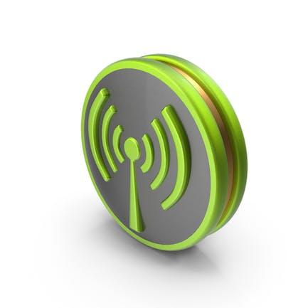 Зеленый значок беспроводной связи