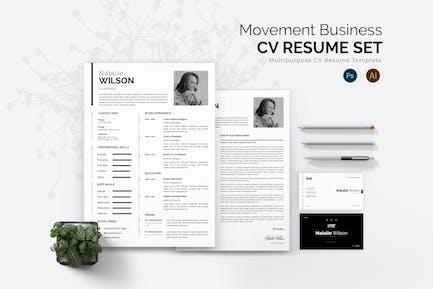 Movement Business CV Resume Set