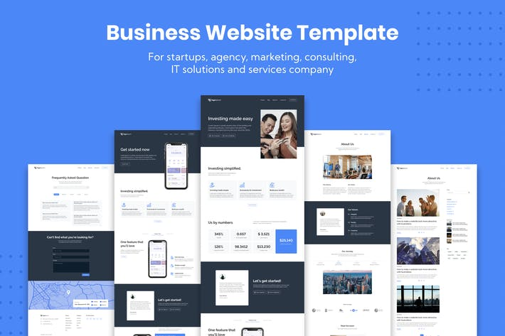 Thumbnail for Corporate Business Website Template