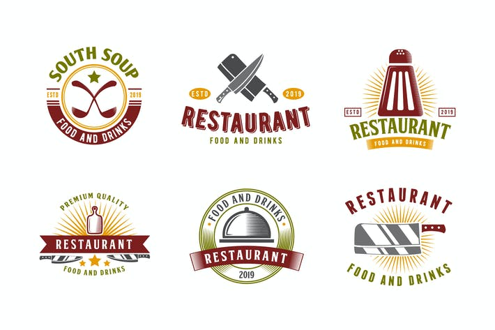 Thumbnail for Set of Restaurant and Food Logo Badge