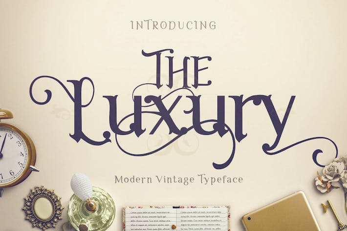 Thumbnail for The Luxury - Elegant Font