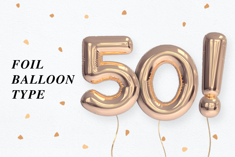 Foil Balloon Type by rhett on Envato Elements