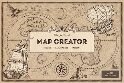 Magic Lands: Creador de mapas Vintage