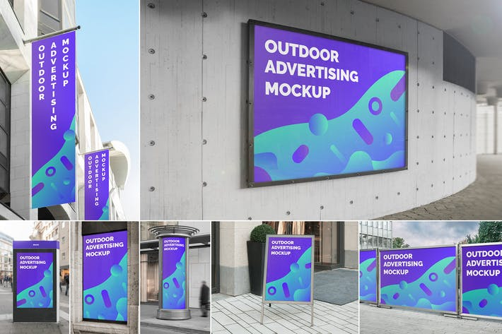 Thumbnail for Outdoor Advertising Mockups Vol. 1