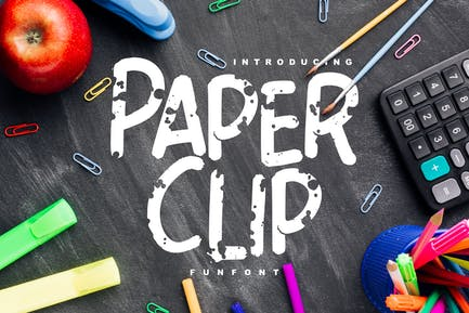 Paper Clip | Decorative Fun Font