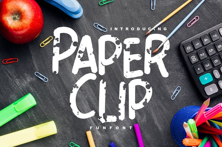 Thumbnail for Paper Clip | Decorative Fun Font