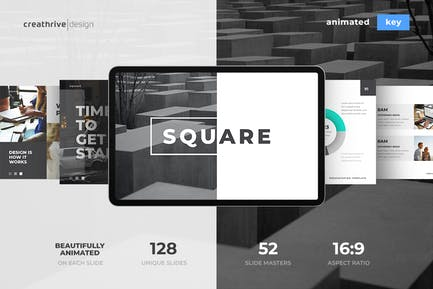 Square Animated Keynote Template