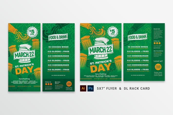 Thumbnail for St. Patrick's Day Menu Flyer
