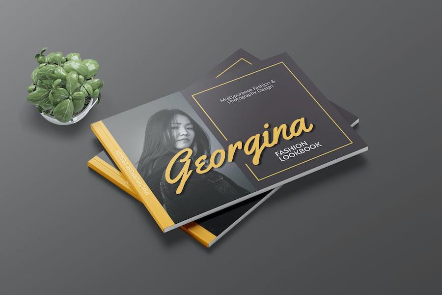 GEORGINA - Fashion A4 Landscape Template