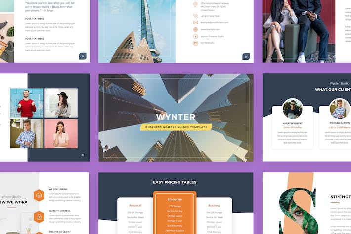 Thumbnail for Wynter - Business Google Slides Template