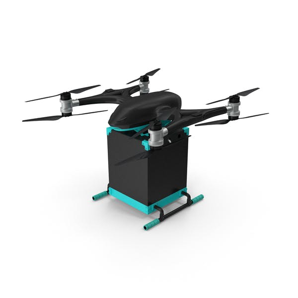 Quadcopter Drone with Delivery Package