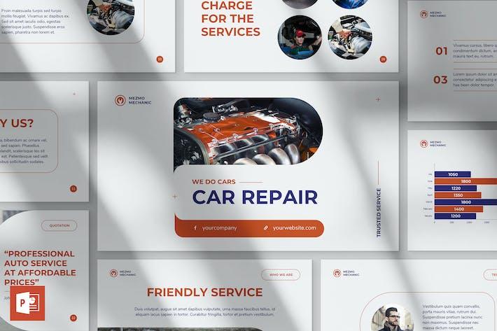 Thumbnail for Ремонт автомобилей PowerPoint Шаблон презентации