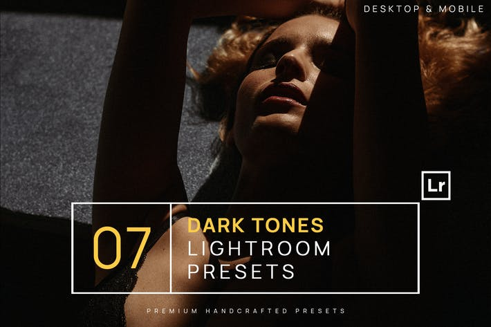 Thumbnail for 7 Dark Tones Lightroom Presets + Mobile