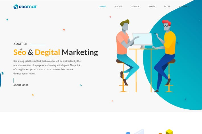 Thumbnail for Seomar - SEO Digital Marketing HTML Template