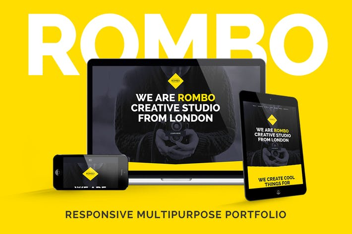 Thumbnail for Rombo - Creative Multipurpose Portfolio template