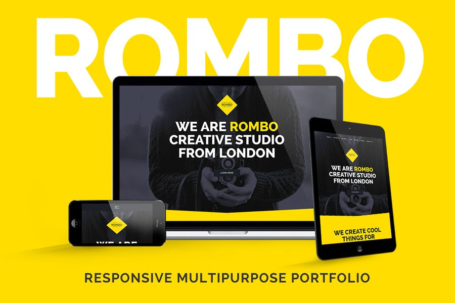 Rombo - Creative Multipurpose Portfolio template - product preview 0